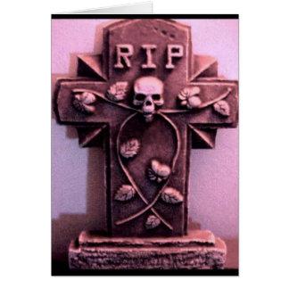 Tarjeta gótica del gris de la piedra sepulcral