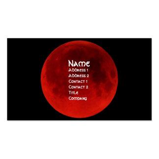 Tarjeta gótica del perfil de la luna de la sangre tarjetas personales