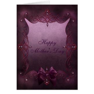 Tarjeta gótica púrpura hermosa del día de madre de