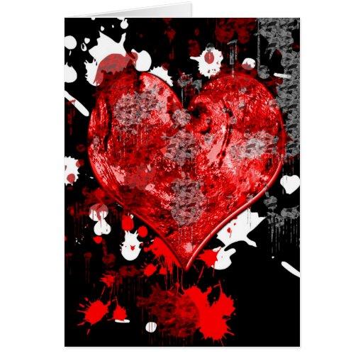 Tarjeta gótica salpicada del el día de San Valentí