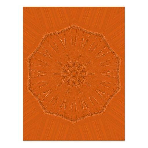 Tarjeta grabada en relieve del naranja del faro postal