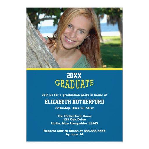 "tarjeta graduada de la foto 20XX Invitación 5"" X 7"""