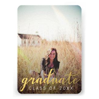 Tarjeta graduada de la foto de la fiesta de gradua invitación personalizada