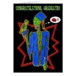 tarjeta graduada del zombi