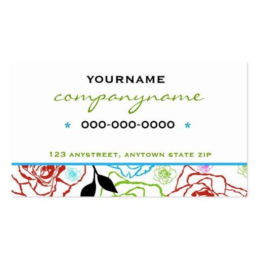 Tarjeta gráfica colorida del perfil de los rosas tarjetas de visita