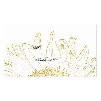 Tarjeta gráfica del lugar del boda del girasol tarjetas de visita