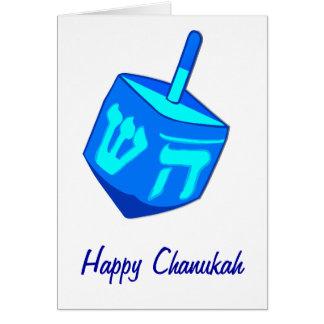 Tarjeta grande de Dreidel Chanukah