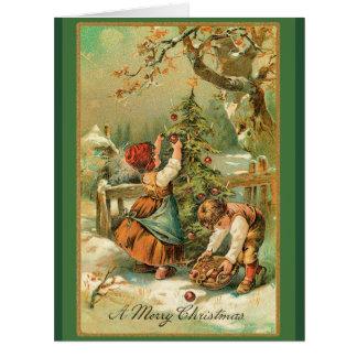 Tarjeta grande de las manzanas del navidad