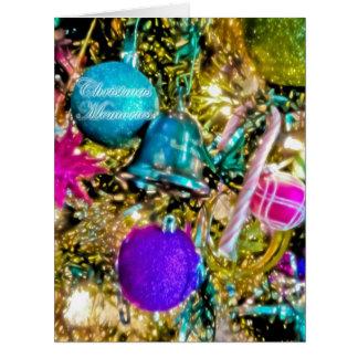 Tarjeta GRANDE de las memorias del navidad