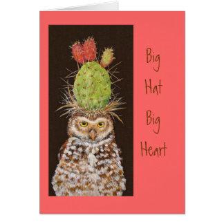 Tarjeta grande del corazón del gorra grande con la