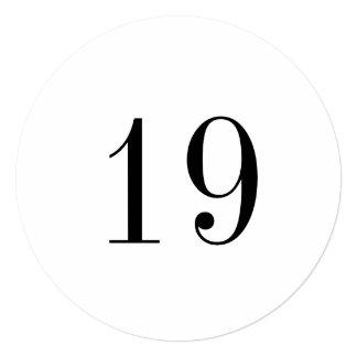 """Tarjeta grande del número de la mesa redonda del invitación 5.25"""" x 5.25"""""""