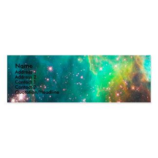 Tarjeta grande del perfil de la nube de Magellanic Tarjetas De Visita Mini