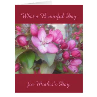 Tarjeta GRANDE floral hermosa del día de madre