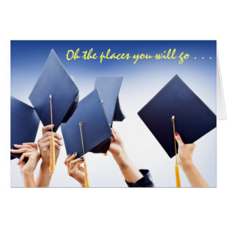 Tarjeta grande ideal de la graduación