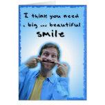 Tarjeta grande y hermosa de la sonrisa