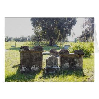 Tarjeta grave de la foto de la guerra civil con el