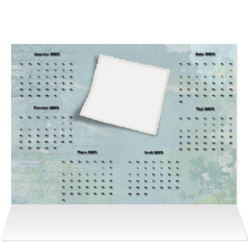 tarjeta greting del calendario