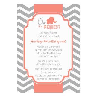Tarjeta gris coralina de la petición del libro de tarjetas de visita grandes