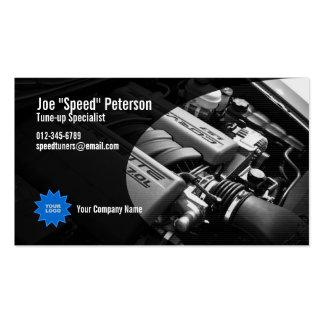 Tarjeta gris de la empresa de servicios del coche