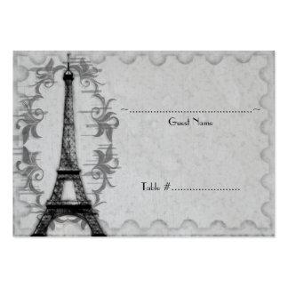 Tarjeta gris del asiento de la recepción del tarjetas de visita grandes