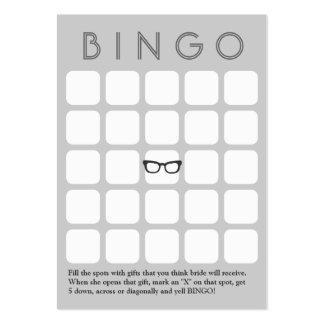Tarjeta gris del bingo de los vidrios 5x5 del tarjetas de visita grandes