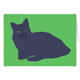 Tarjeta gris del gatito