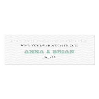 tarjeta gris del Web site del boda del galón en Tarjetas De Visita Mini