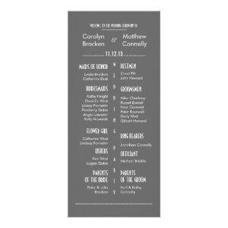 Tarjeta gris moderna elegante del estante del prog lonas personalizadas