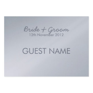 Tarjeta gris plateada pintada del lugar de los tarjetas de visita grandes