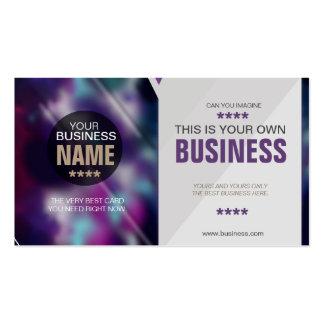 Tarjeta gris púrpura borrosa inconformista moderno tarjetas de visita