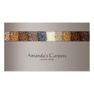 Tarjeta gris simple de la tienda de la alfombra tarjetas de visita