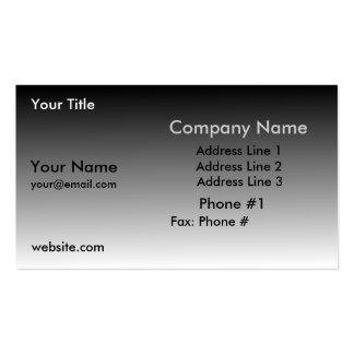 Tarjeta gris simple del perfil del negocio de la p tarjetas de visita