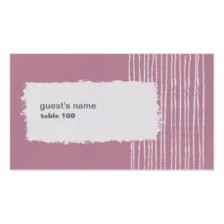 Tarjeta gris y rosada 2 de la paloma del lugar tarjetas de visita