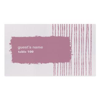 Tarjeta gris y rosada de la paloma del lugar tarjetas de visita