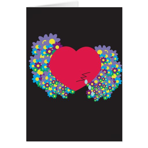 Tarjeta gritadora del corazón