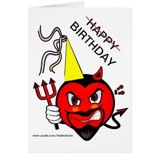 Tarjeta gruñona del feliz cumpleaños del diablo