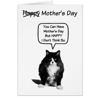 Tarjeta gruñona divertida del día de Cat Mother
