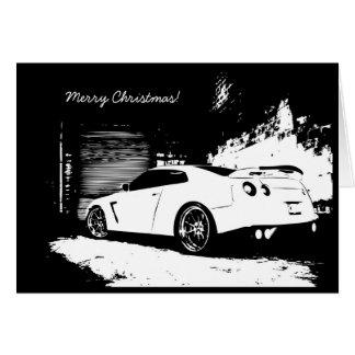 Tarjeta GTR del día de fiesta del navidad del hori