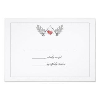 """Tarjeta guardada majestuosa de la respuesta del invitación 3.5"""" x 5"""""""
