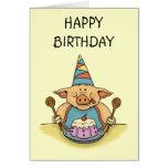 tarjeta guarra hambrienta del feliz cumpleaños