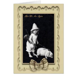 Tarjeta guarra y de I del vintage de la fotografía
