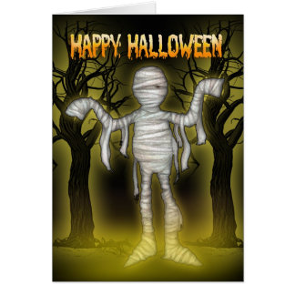 Tarjeta Halloween romántico de Halloween con la mo