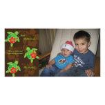 Tarjeta hawaiana de la foto del navidad de Honu Tarjetas Con Fotos Personalizadas