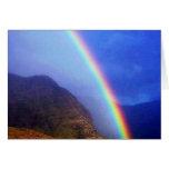 Tarjeta hawaiana del arco iris