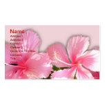 Tarjeta hawaiana del rosa y blanca del hibisco de  plantilla de tarjeta personal