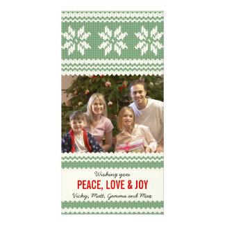 Tarjeta hecha punto de la foto del navidad/tarjeta tarjetas con fotos personalizadas