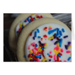 Tarjeta helada de la galleta de azúcar