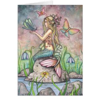 Tarjeta hermosa de la sirena por Molly Harrison