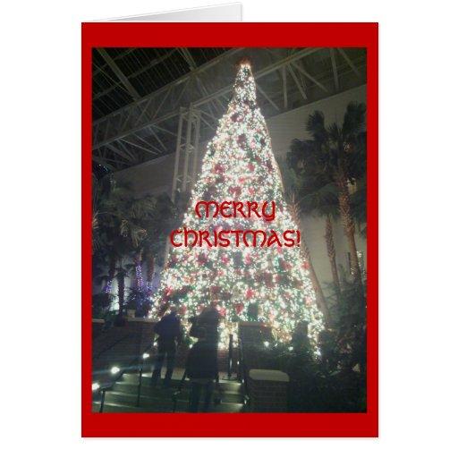 ¡Tarjeta hermosa del árbol de navidad!