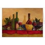 Tarjeta hermosa del arte del vino